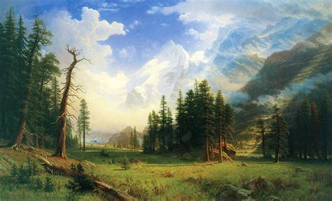 mountain landscape painting by albert bierstadt