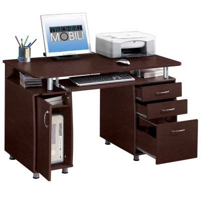 complete computer workstation desk with storage techni mobili rta products llc techni mobili complete workstation