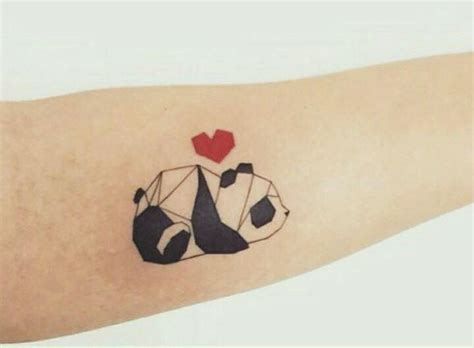 Panda Tattoo Abstract | abstract animals with panda watercolor tattoo on back