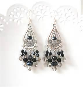 large black chandelier earrings rubymae black chandelier earrings felt