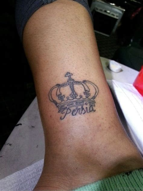 crown with name tattoo 23 best crown tattoos on ankle