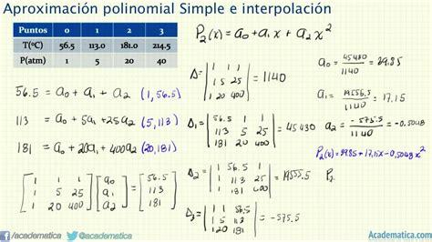 metodo de minimos cuadrados ejemplos resueltos aproximaci 243 n polinomial simple polinomio de grado 2