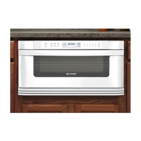 Lowes Microwave Drawer by Shop Sharp 30 In 1 Cu Ft Microwave Drawer White At Lowes