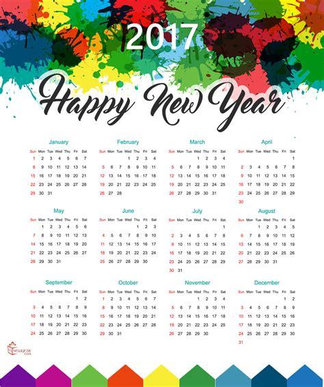 Calendrier Cancer 2017 New Year Calendar 2017