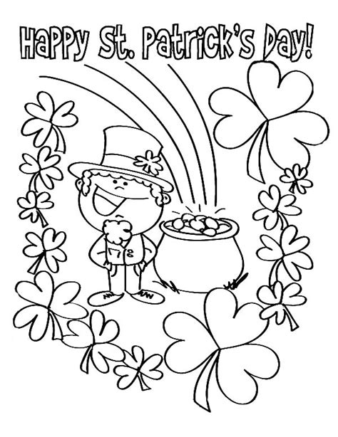 30 St Patricks Day Coloring Pages Coloringstar St S Day Coloring Pages For On