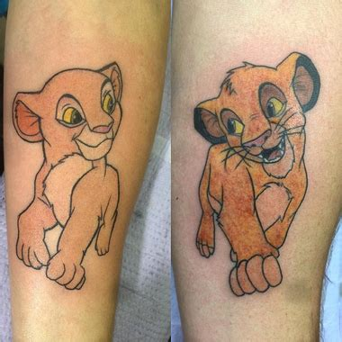 simba and nala tattoo 25 of the most magically wonderful disney tattoos on earth