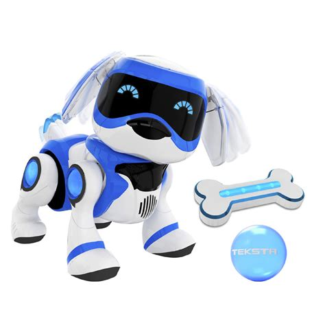robot puppy teksta robot puppy blauw intertoys