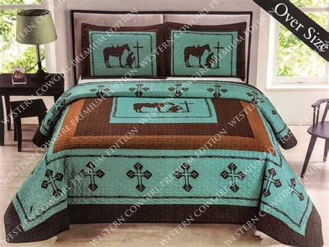 praying cowboy comforter texas cross praying cowboy western quilt bedspread