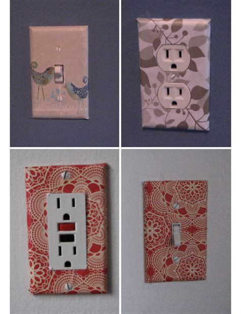 creative home decorating ideas on a budget wallpaper covered sockets diy home decor ideas on a