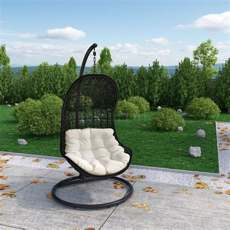 outdoor patio swing chair parlay swing outdoor patio lounge chair by modway