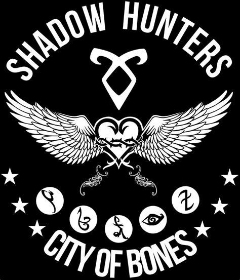 cazadores logo camiseta chica cazadores de sombras alas de 225 ngel