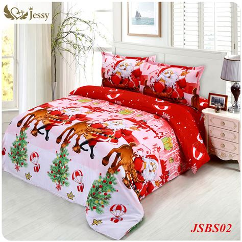 christmas bedding set santa claus reindeer with