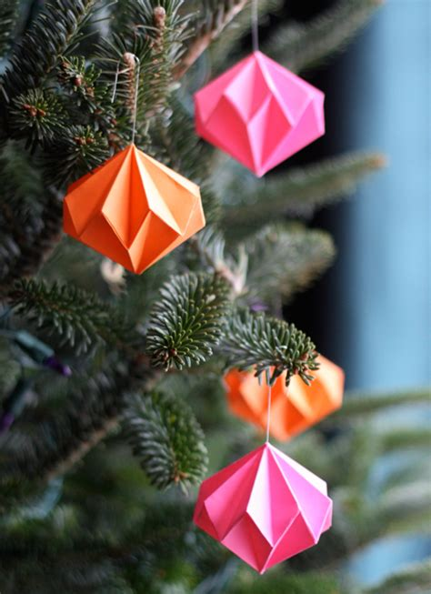 Make Paper Ornament - origami ornaments how about orange