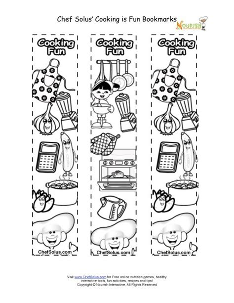 free printable nutrition bookmarks bookmarks make your own recipe book bookmark coloring sheet