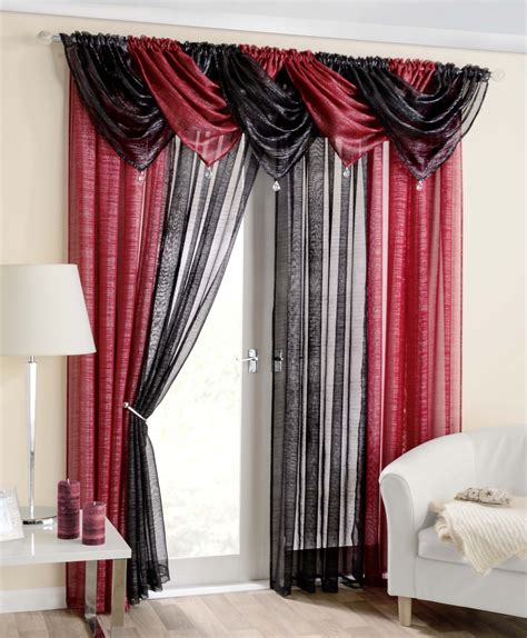 red swag curtains casablanca red voile swag