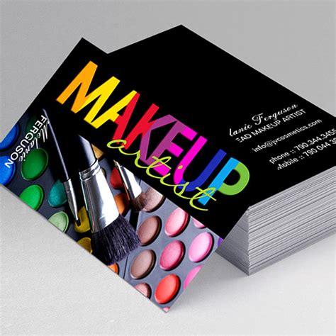 Makeup Artist Business Cards Templates Free bold makeup artist business card
