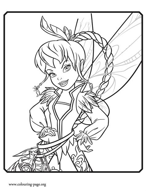 the pirate fairy fawn a light fairy coloring page