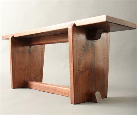 walnut bench nakashima mid century japanese style for your