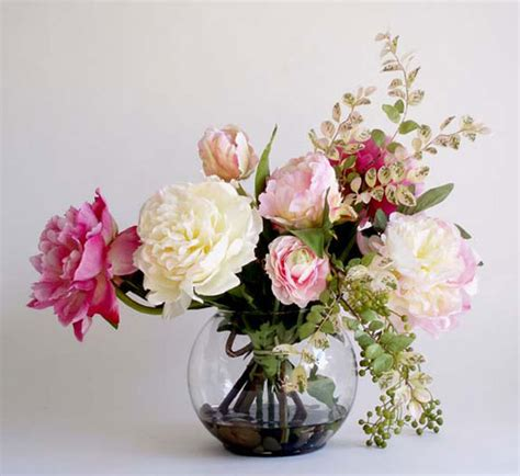 How To Make A Silk Flower Arrangement In A Vase by Beautiful Artificial Silk Flowers Arrangements For Home