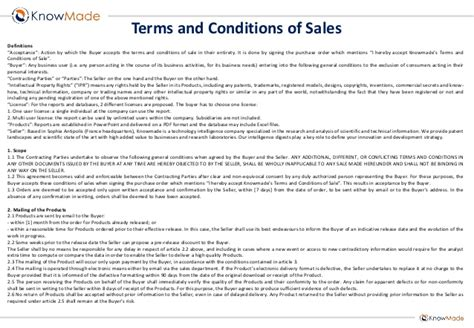 po terms and conditions template emerging mems patent investigation sle