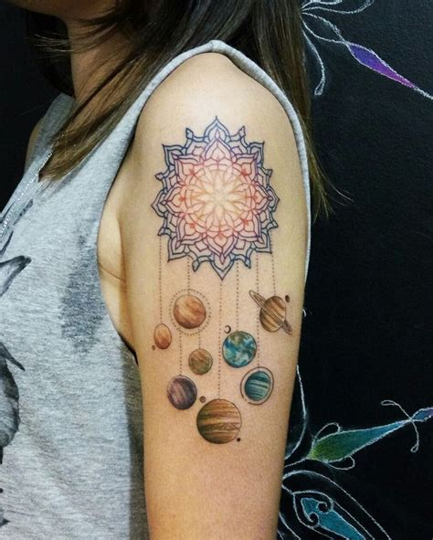 tattooed heart instagram mamdala tattoo planeta solar system by lucassouzatattoo