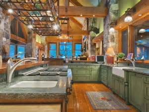 rustic green kitchen cabinets 46 fabulous country kitchen designs ideas