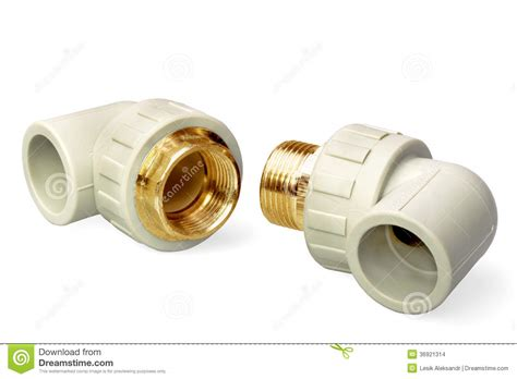 Plumbing Fixture Parts by Plumbing Fixtures And Piping Parts Stock Images Image