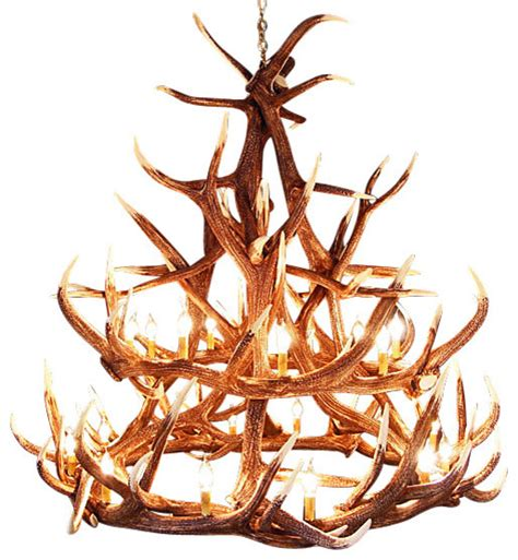 Elk Antler Chandeliers Rustic Elk 18 Antler Chandelier With 21 Lights Rustic Chandeliers By Muskoka Lifestyle