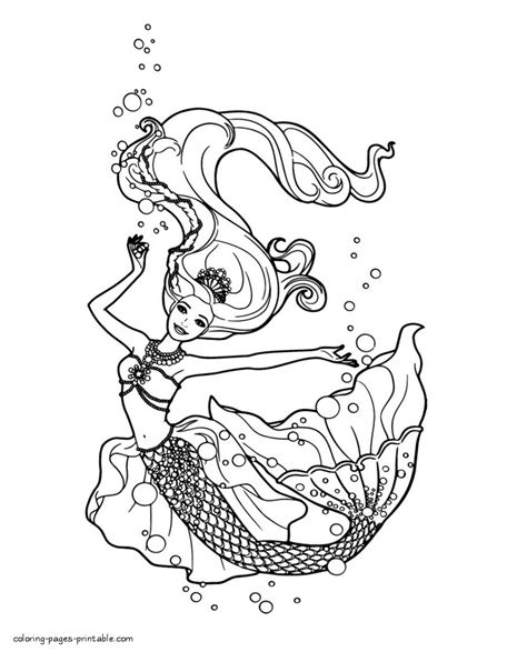 Barbie The Pearl Princess Coloring Pages Kids Coloring Pearl Princess Coloring Pages
