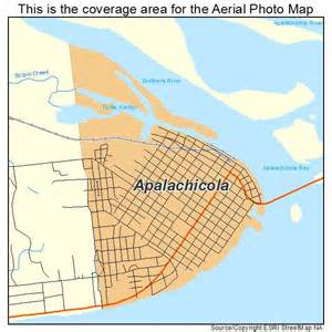 aerial photography map of apalachicola fl florida