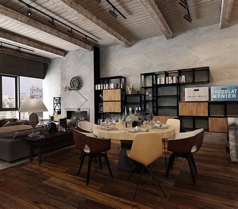 rustic industrial interior design ideas