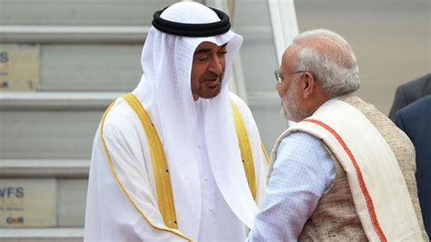 Pm Abu Dhabi Coat Pm Modi Receives Republic Day Chief Guest Crown Prince Of