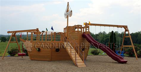 wooden boat swing set playhouse swing set plans pirate ship playhouses my