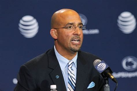 penn state couch james franklin addresses the media after being introduced