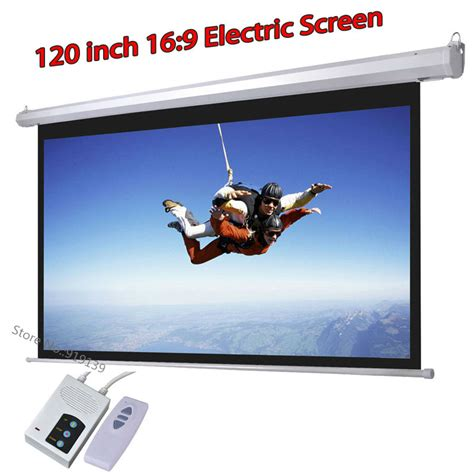 120 inch motorized projector screen best dhl fast shipping big cinema motorized projection