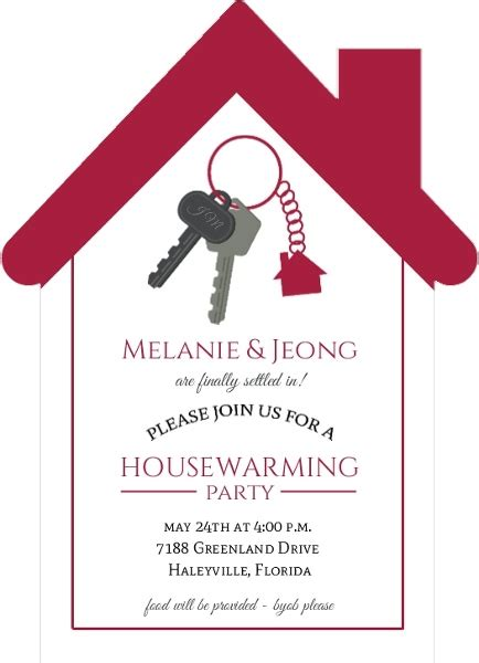 housewarming invitation design cute house keychain housewarming invitation housewarming