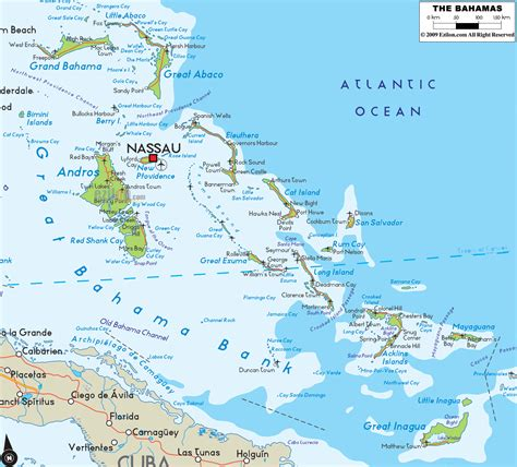 the bahamas map road map of bahamas ezilon maps