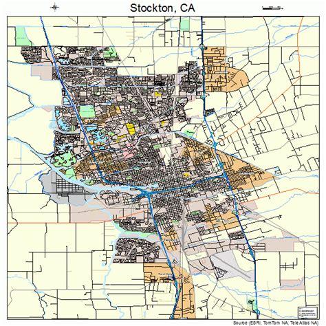 california map stockton stockton california map 0675000