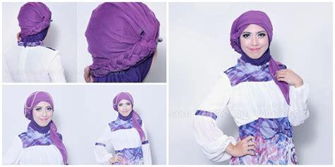 cara tutorial hijab turban cara memakai jilbab kepang hairstylegalleries com