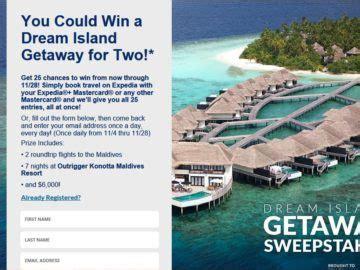 Expedia Sweepstakes - expedia black friday dream island getaway sweepstakes
