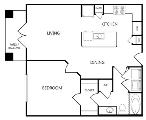 anatole floor plan anatole at norman norman ok apartment finder