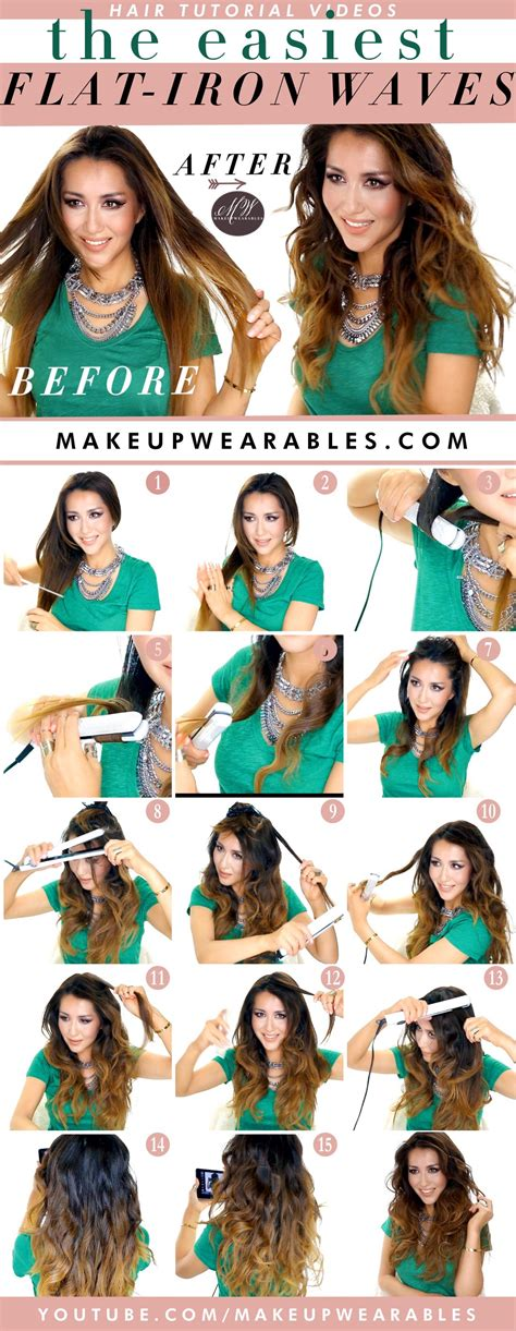 easy hairstyles using a straightener easiest way to do waves with a flat iron how to curl