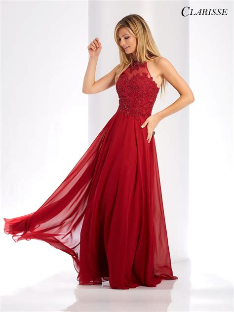 crimson color dress 2018 prom dress clarisse 3528 promgirl net