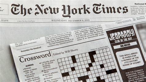 newspaper section crossword nyt crossword puzzle jeopardy j buzz jeopardy com