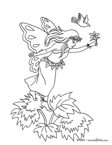 wood fairy coloring page fairy in the wood coloring pages hellokids com