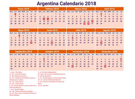 calendario escolar argentina 2017 2018 calendario 2018 argentina con feriados para imprimir