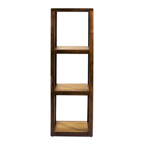120cm Shelf by Solid Teak And Bamboo Shelf Tower Unit H 120cm Bamboo