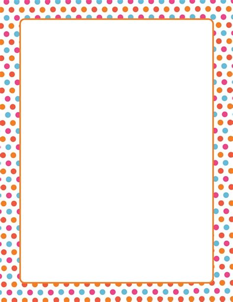 Home Design Brand Towels by Multi Dots W Orange Border Design Paper 8 5x11