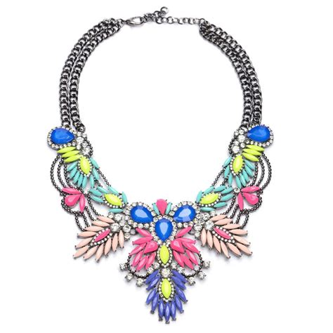 colorful statement necklace colorful statement necklaces