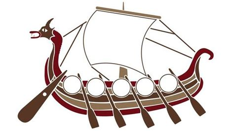 longboat template a blank viking ship for pupils to create their own viking